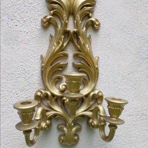 Burwood Wall Art - Vintage Burwood Wall Candle Holders Sconces PAIR